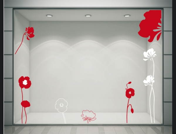 Stickers coquelicots rouges