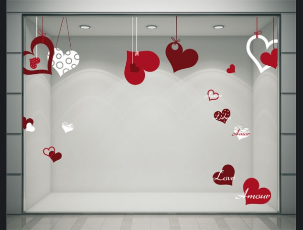 Deco vitrine st valentin maison design for Magasin pour decoration de maison